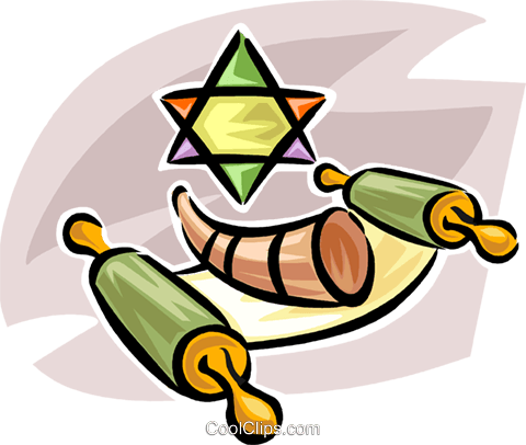 Judaism Royalty Free Vector Clip Art illustration vc063561