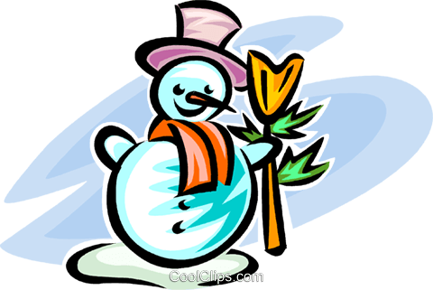 snowman Royalty Free Vector Clip Art illustration vc063575