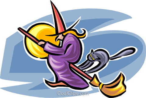 witch Royalty Free Vector Clip Art illustration vc063580