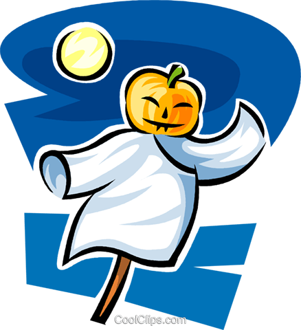 Halloween pumpkin Royalty Free Vector Clip Art illustration vc063584