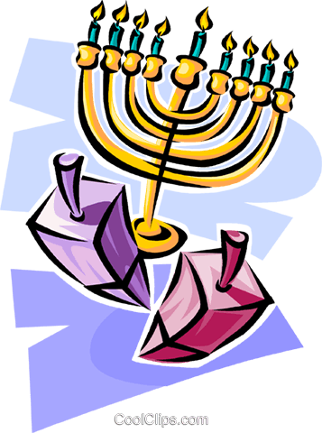 menorah Royalty Free Vector Clip Art illustration vc063590