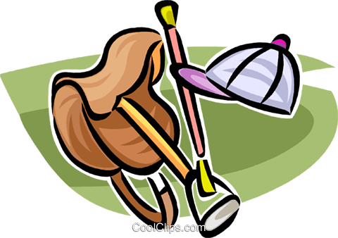 Equestrian equipment Royalty Free Vector Clip Art illustration vc063609