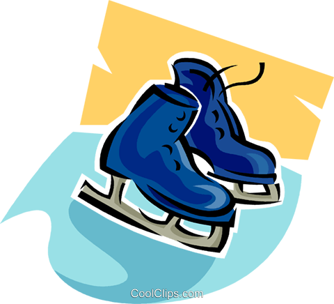 Figure skates Royalty Free Vector Clip Art illustration vc063615