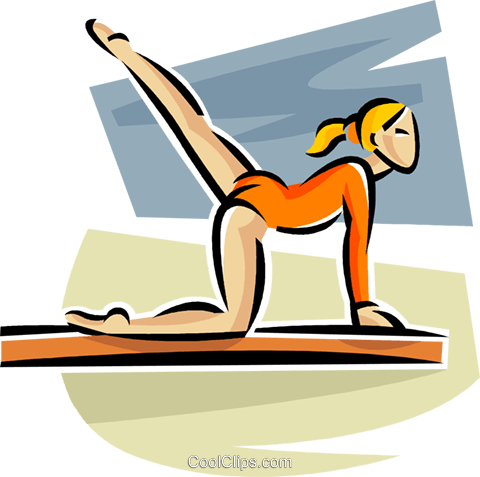 gymnast Royalty Free Vector Clip Art illustration vc063656