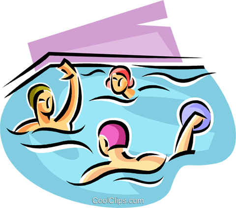 water polo players Royalty Free Vector Clip Art illustration vc063667