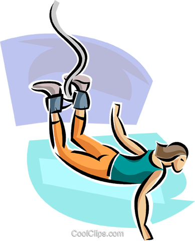 Bungee jumper Royalty Free Vector Clip Art illustration vc063671