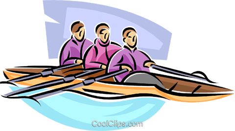 rowing Royalty Free Vector Clip Art illustration vc063682
