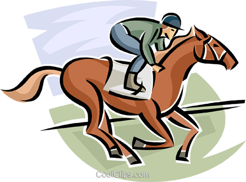 Horse race Royalty Free Vector Clip Art illustration vc063685