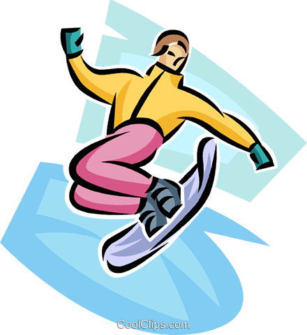 snowboarder Royalty Free Vector Clip Art illustration vc063696