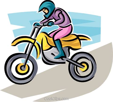 motorcycle rider Royalty Free Vector Clip Art illustration vc063697