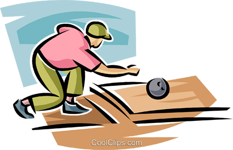 Person bowling Royalty Free Vector Clip Art illustration vc063698