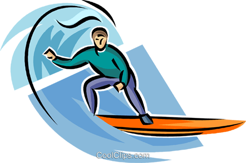 Person surfing Royalty Free Vector Clip Art illustration vc063699