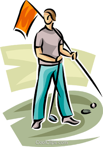 golfer Royalty Free Vector Clip Art illustration vc063711