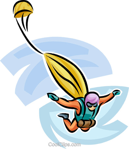 Sky diver Royalty Free Vector Clip Art illustration vc063719