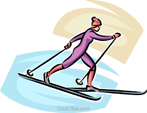 cross-country skier Royalty Free Vector Clip Art illustration vc063722