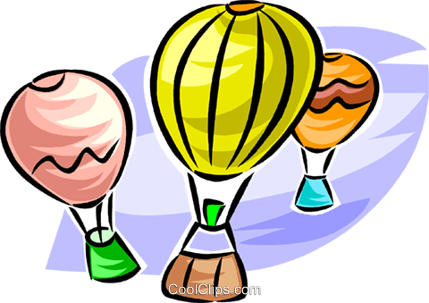 hot air balloons Royalty Free Vector Clip Art illustration vc063726