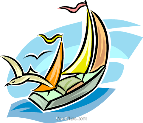 sailboat Royalty Free Vector Clip Art illustration vc063728
