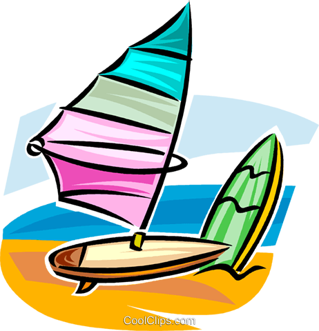 windsurfer/sailboard Royalty Free Vector Clip Art illustration vc063729