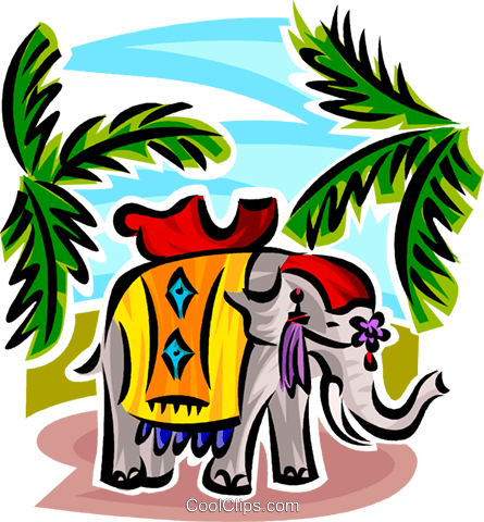 elephant Royalty Free Vector Clip Art illustration vc063752