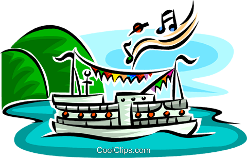 boat cruise Royalty Free Vector Clip Art illustration vc063753