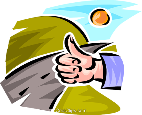 hitch hiker Royalty Free Vector Clip Art illustration vc063754