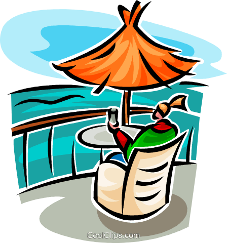 looking out over water Royalty Free Vector Clip Art illustration vc063758