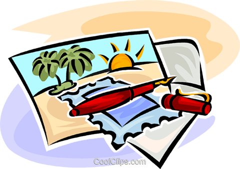 vacation postcards royalty free vector clip art illustration rh search coolclips com postcard clipart free postcard clip art free
