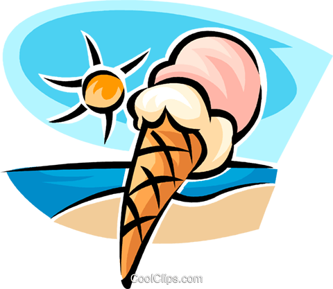 ice cream cone Royalty Free Vector Clip Art illustration vc063767