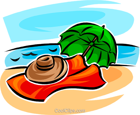 beach scenes Royalty Free Vector Clip Art illustration vc063769