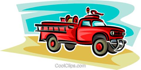 vintage fire engine Royalty Free Vector Clip Art illustration vc063783