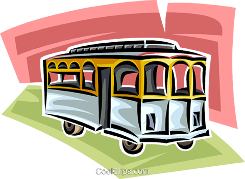 streetcar Royalty Free Vector Clip Art illustration vc063790