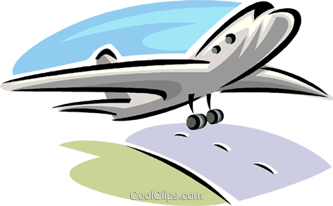 commercial airplane Royalty Free Vector Clip Art illustration vc063791