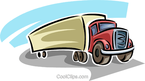 transport truck Royalty Free Vector Clip Art illustration vc063803