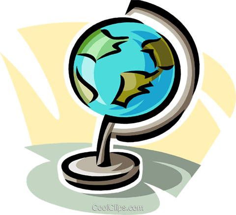 world globe Royalty Free Vector Clip Art illustration vc063807