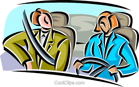 passengers in a car Royalty Free Vector Clip Art illustration vc063816