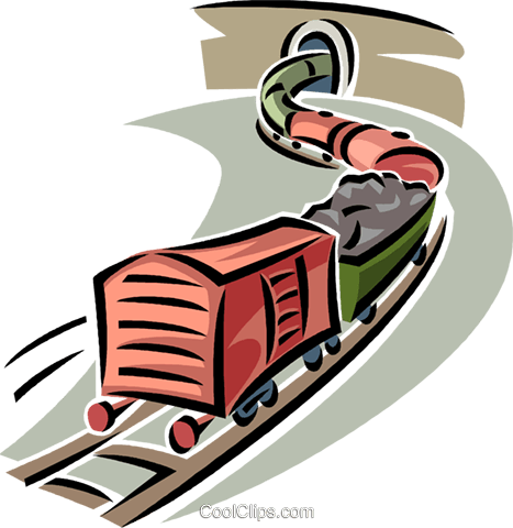 train cars Royalty Free Vector Clip Art illustration vc063819