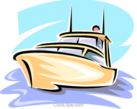 pleasure boat Royalty Free Vector Clip Art illustration vc063822