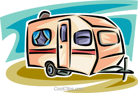 Camping Trailer Royalty Free Vector Clip Art Illustration Vc063839