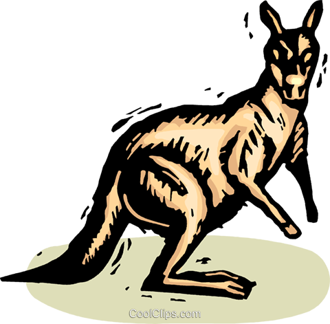 Kangaroos Royalty Free Vector Clip Art illustration vc063852