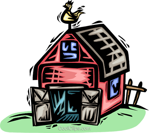 Barns and Farms Royalty Free Vector Clip Art illustration vc063869