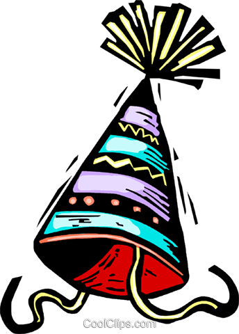party hat Royalty Free Vector Clip Art illustration vc063875