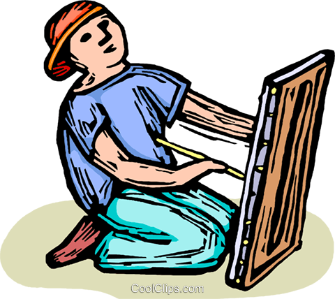 child playing Royalty Free Vector Clip Art illustration vc063879