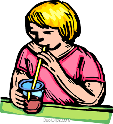 child drinking Royalty Free Vector Clip Art illustration vc063886