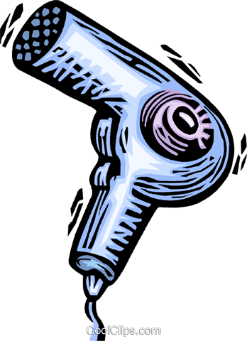 Hair Dryers or Blow Dryers Royalty Free Vector Clip Art illustration vc063900