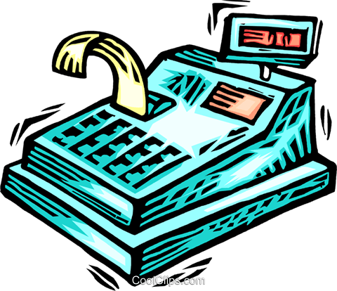 Cash Register Royalty Free Vector Clip Art illustration vc063901