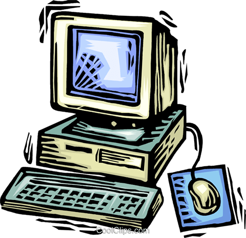 Computer Desktop Systems Royalty Free Vector Clip Art illustration vc063904