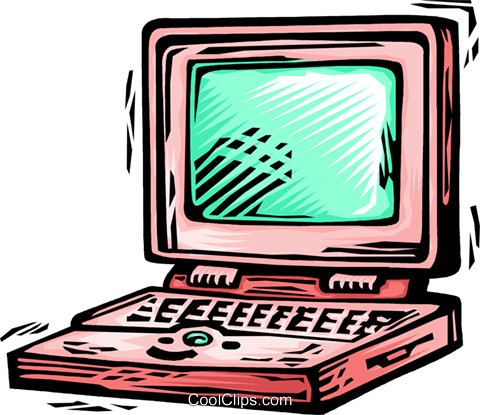 Laptops and Notebook Computers Royalty Free Vector Clip Art illustration vc063906