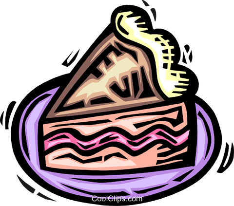 Cakes and Pastries Royalty Free Vector Clip Art illustration vc063921