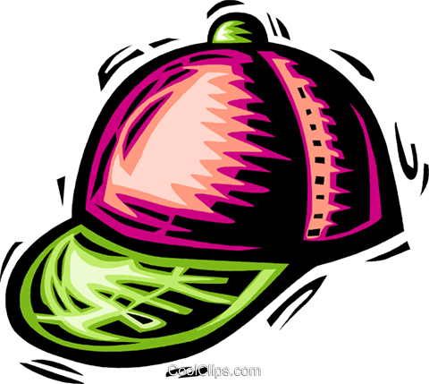 baseball hat Royalty Free Vector Clip Art illustration vc063941