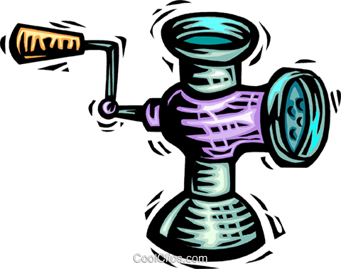 Meat Grinders Royalty Free Vector Clip Art illustration vc063965